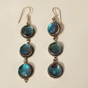 Stering silver drop earrings